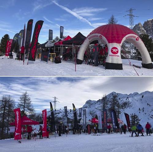 E' aperto il villaggio sportivo del Cortina Fashion Weekend Sport!