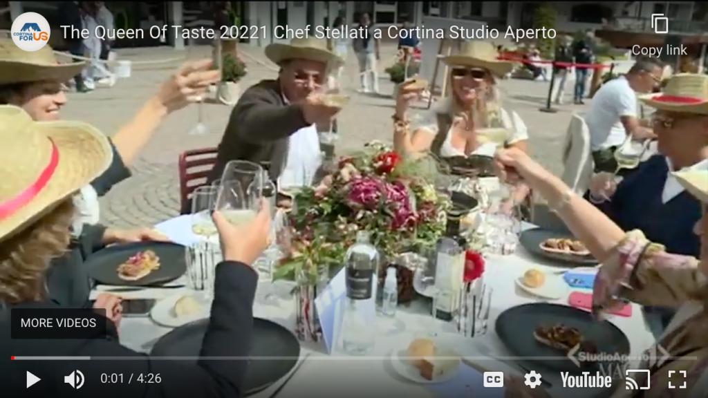 Studio Aperto The Queen of Taste 2021 Chef Stellati a Cortina d'Ampezzo